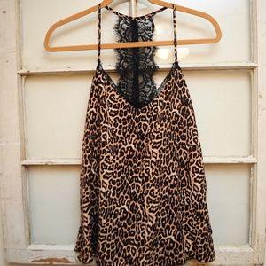 Leopard/Cheetah Print Jessica Simpson Tank w/ Lace